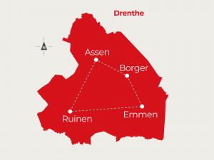 Fietsvakantie Borger - Emmen - Ruinen - Assen