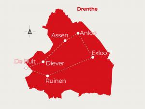 Fietsvakantie Anloo - Exloo - Ruien - De Bult - Diever